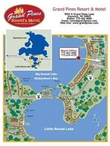 Grand Pines Resort & Motel MAP