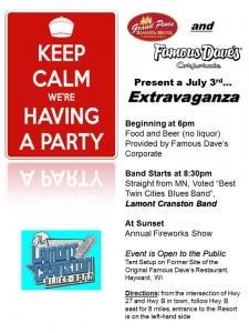 July 3rd Extravaganza