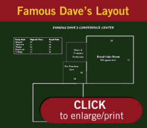 Famous Dave's Conference Layout